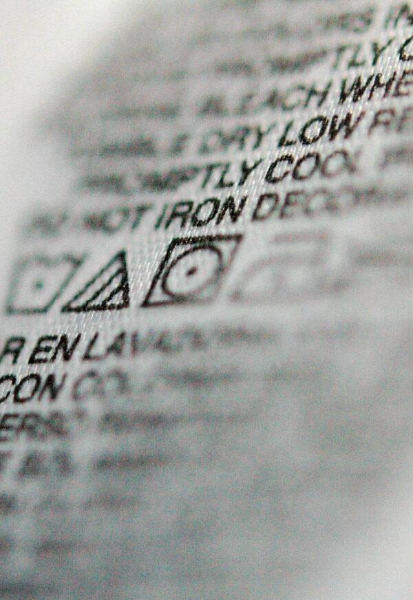 Fabric Care Label