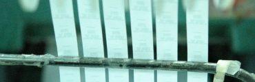 Stripe of nylon label