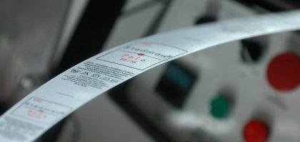 Satin polyester label printing